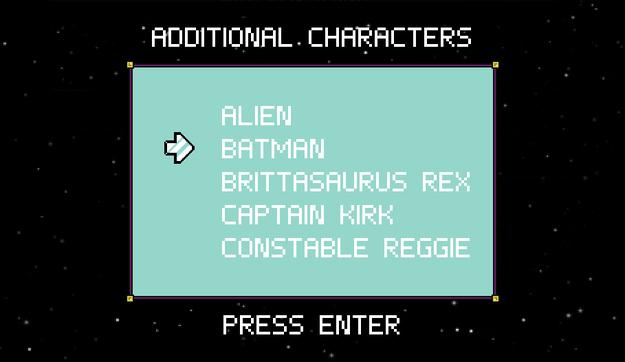 Character select
