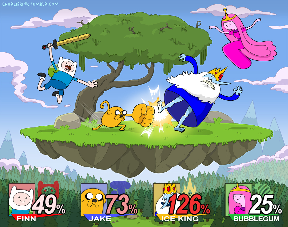 super smash bros x adventure time modern borefare