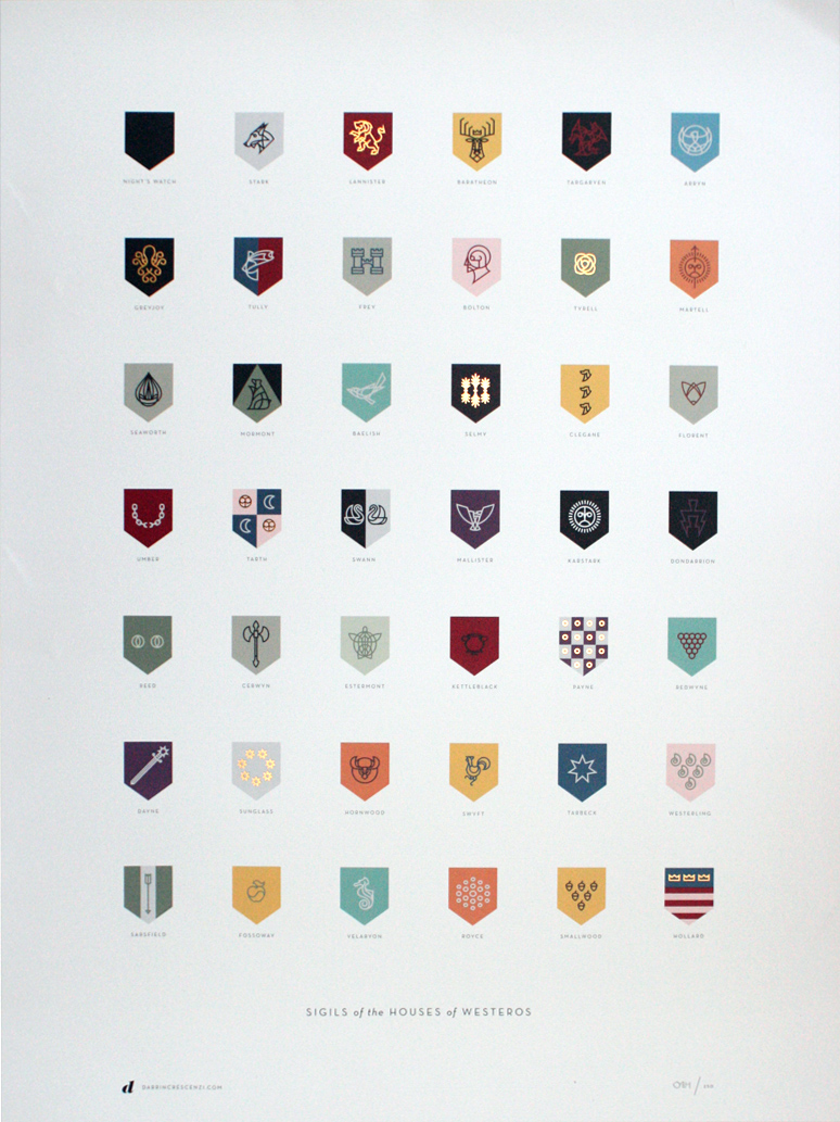 Too Slow on the Draw Again: Houses of Westeros Sigils ...
