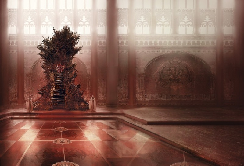 The Iron Throne (wider view) by Marc Simonetti