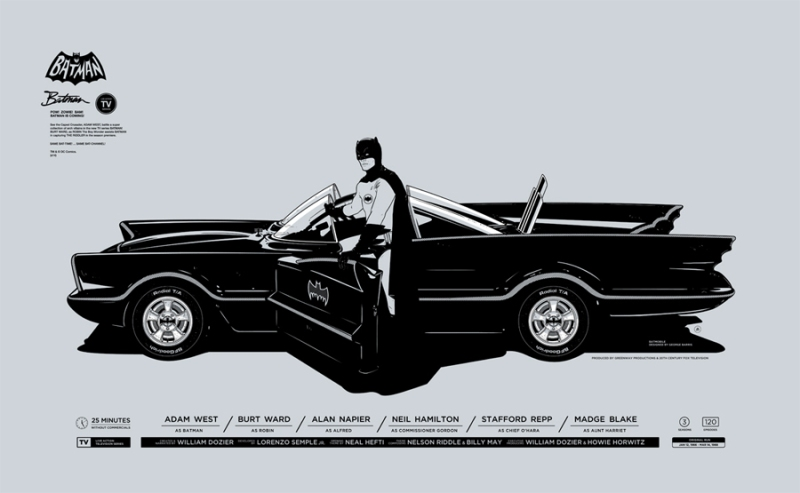 "Batman by Gianmarco Magnani. 23.622""x14.567"" screen print. Hand numbered. Edition of 300. Printed by Seizure Palace. $45"