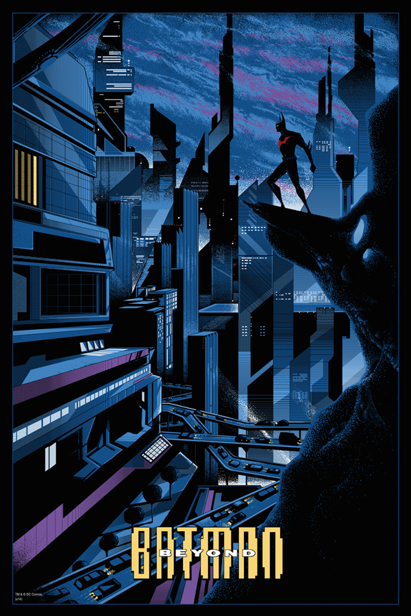 "Batman Beyond by Kilian Eng. 24""x36"" screen print. Hand numbered. Edition of 325. Printed by D&L Screenprinting. $50"