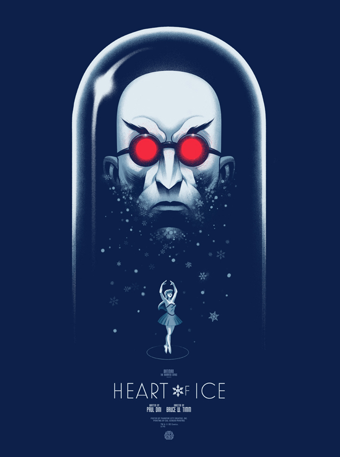 "Heart of Ice by Phantom City Creative. 18""x24"" screen print. Hand Numbered. Edition of 225. Printed by D&L Screenprinting. $45"