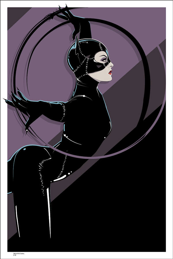 "Catwoman by Craig Drake. 24""x36"" screen print. Hand Numbered. Edition of 175. Printed by D&L Screenprinting. $50"